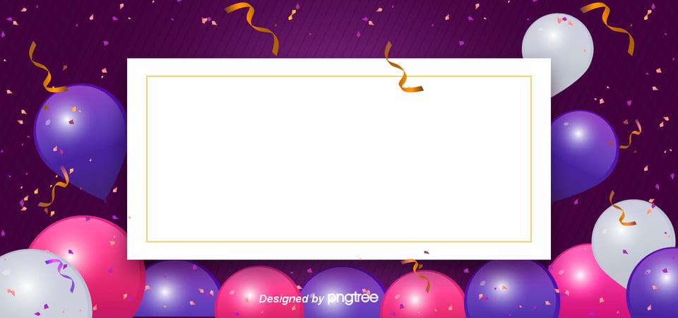 purple happy birthday card background ribbon creative