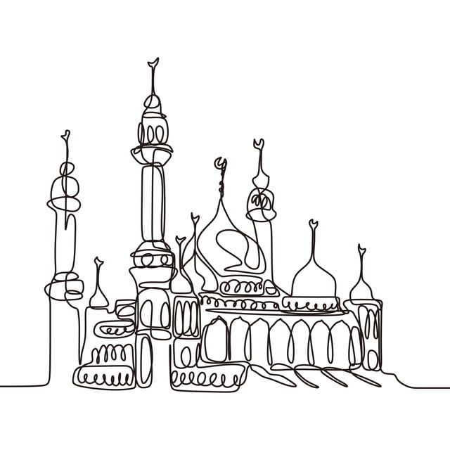 Mosque Line Drawing