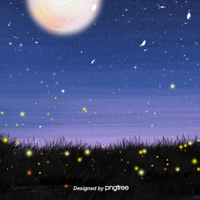 Tangan Dicat Aesthetic Dan Fresh Star Sky Night Star Latar Belakang Firefly Grassland E Commerce Background Estetika Malam Bintang Kecil Gambar Latar Belakang Untuk Unduhan Gratis
