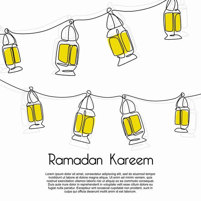 lantern banner template  Ramadan Kareem Decorative Lantern Banner Template On White ...