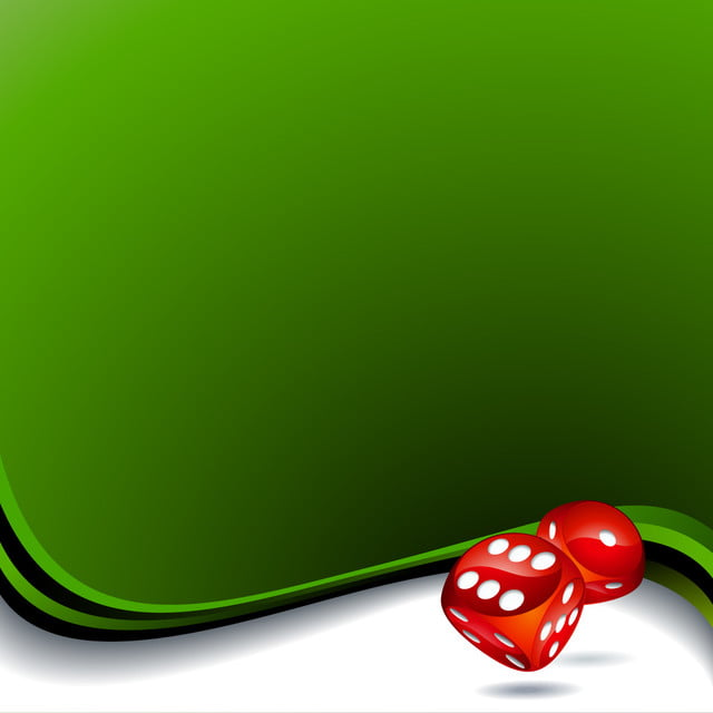 Vector Background With Two Red Dices For A Casino Theme