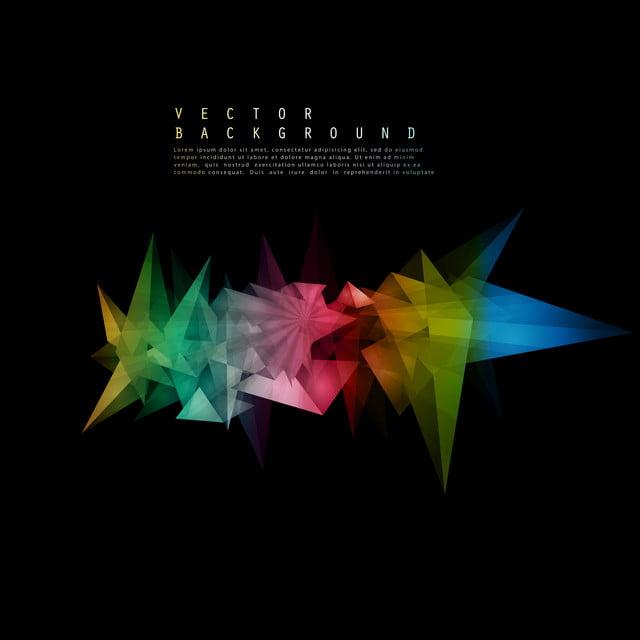 445dbc74d85 Pirámides o Vector fondo negro con coloridos 3D triangulos Resumen ...