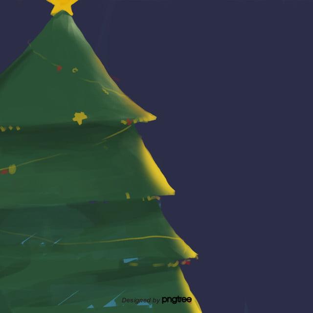 Imagenes Animadas Arboles Navidad.Dibujos Animados Arboles Verdes Noches Cartel Arbol De