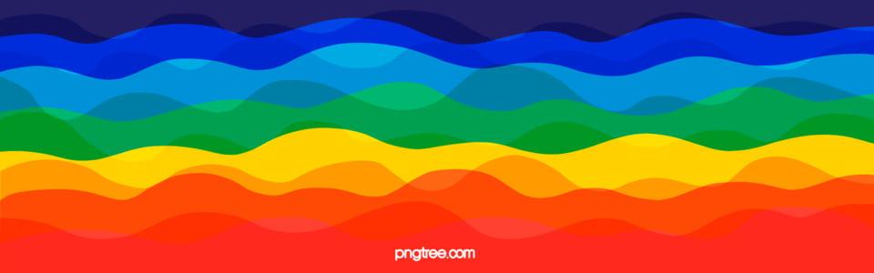 Colorful Wave Stripe Rainbow Seven Colors Rainbow Stripe