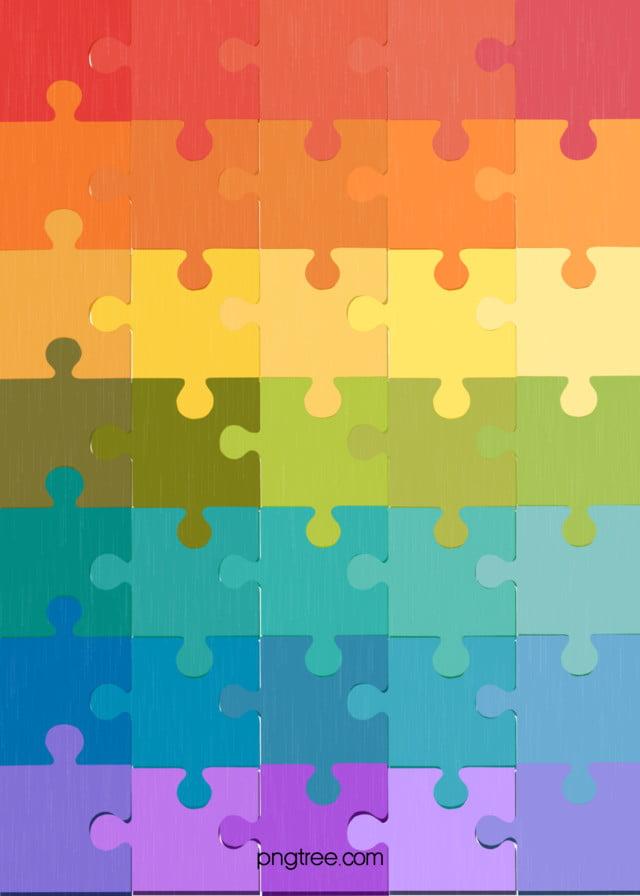 Gradual Background Of Rainbow Color Plane Mosaic, Plane
