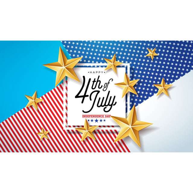 4th Of July Independence Day Of The Usa Vector Illustration Fourth