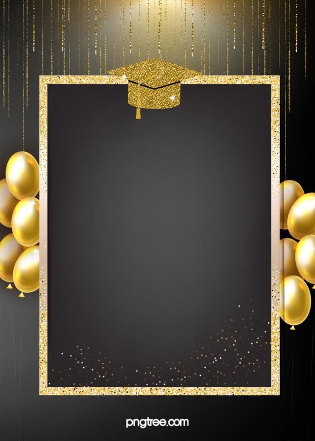 الخلفية الذهبية الملمس من قبعة التخرج تخرج بالون ذهبي صورة الخلفية للتحميل مجانا