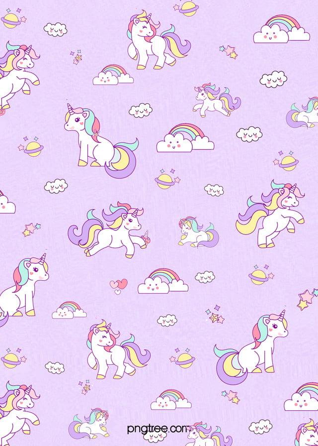 pngtree purple dream unicorn background image 118426