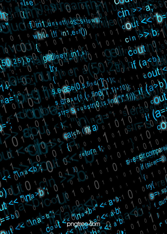 Blue Programming Code Character Background Code Character Computer Background Image For Free Download