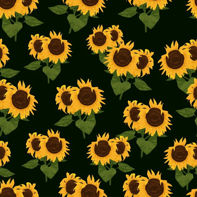 pngtree sunflower floral seamless pattern image 123158