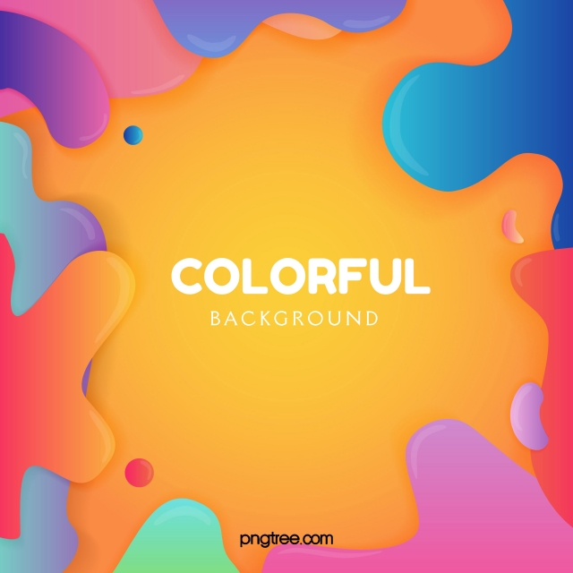 Abstract Color Fluid Background Dynamic Color Abstract