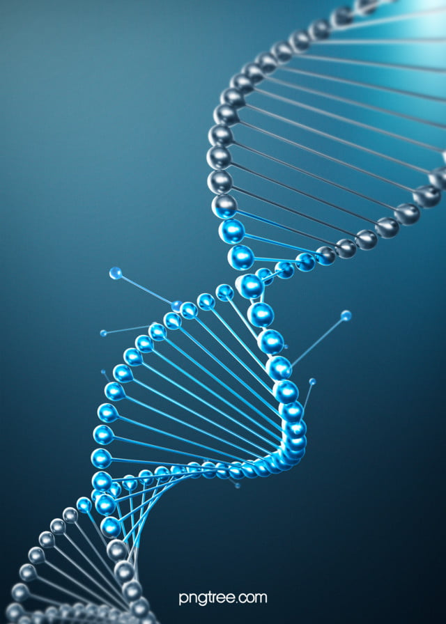5b74502a Background Of Blue Creative Gene Gradient Stereo Dna Chain, Dna ...