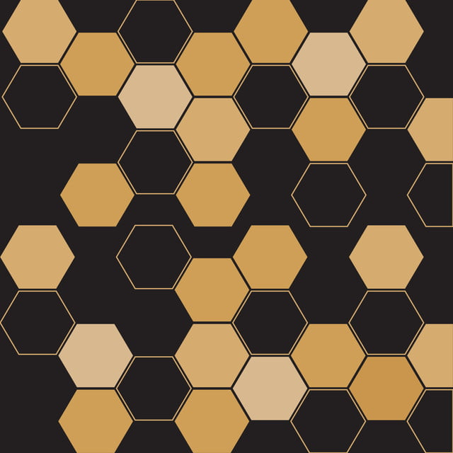 Black And Gold Hexagon Wallpaper Background Gold Abstract
