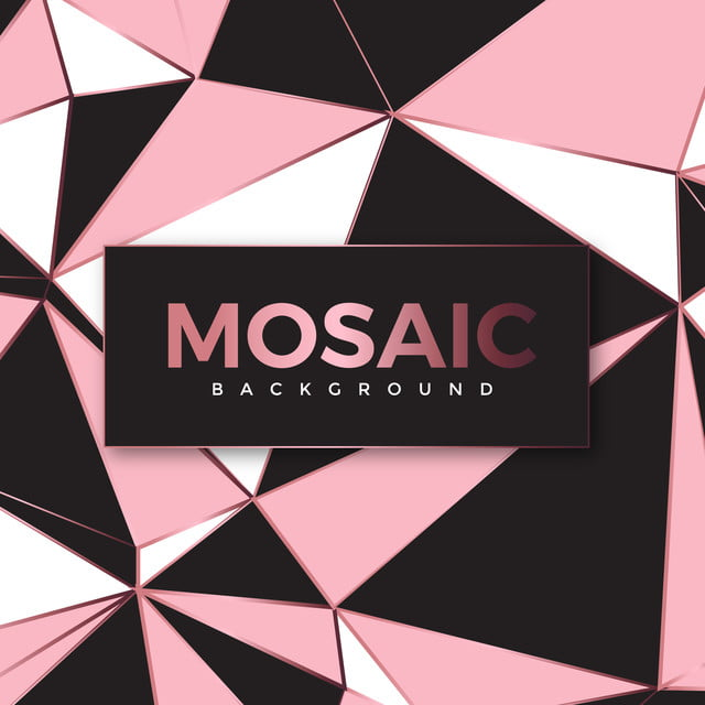 Modern Abstract Polygonal Mosaic Wallpaper In Rose Gold And