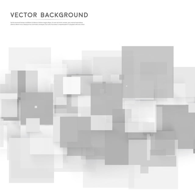 Vector White Background With Abstract Pattern Of Gray