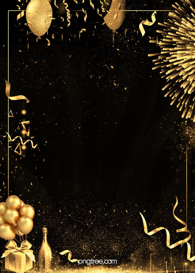Creative Black Gold Textured Party Background Black Gold Party