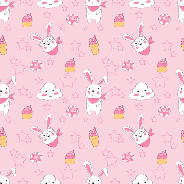 Vector Seamless Pattern With Cute Rabbit Pink Pattern For Fabric Baby Clothes Background Textile Wrapping Paper And Other Decoration Background Cute Pink Background Image For Free Download