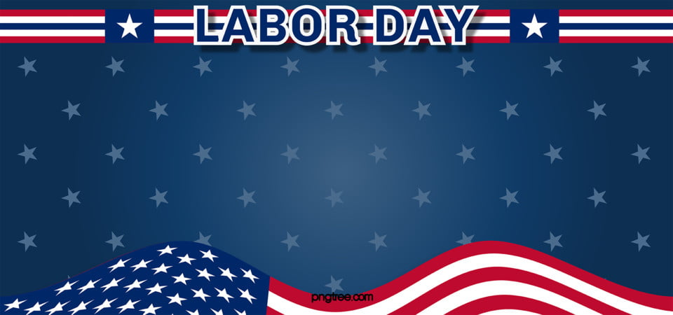 American Labor Day Blue American Flag Background, Usa