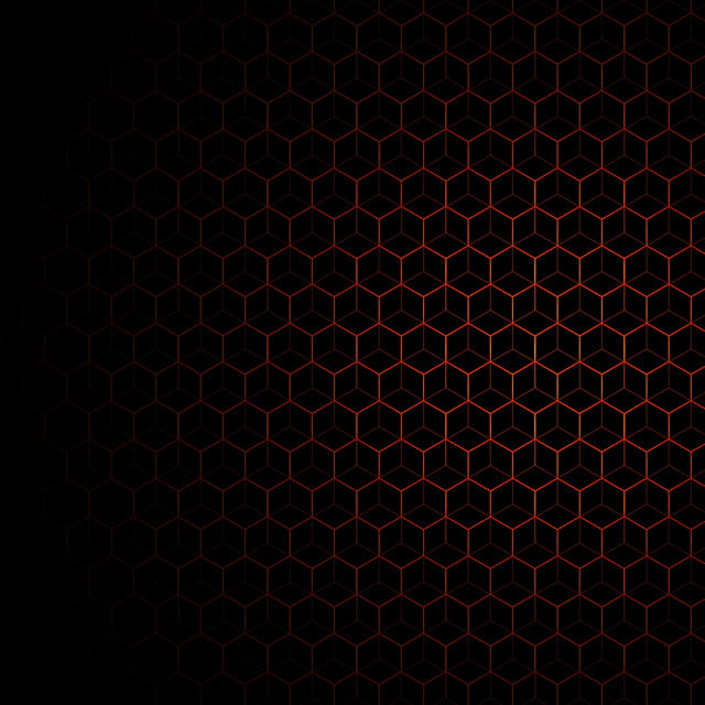 Black Business Card With Blue Circles: Orange Pattern With Black Background, Background, Pattern