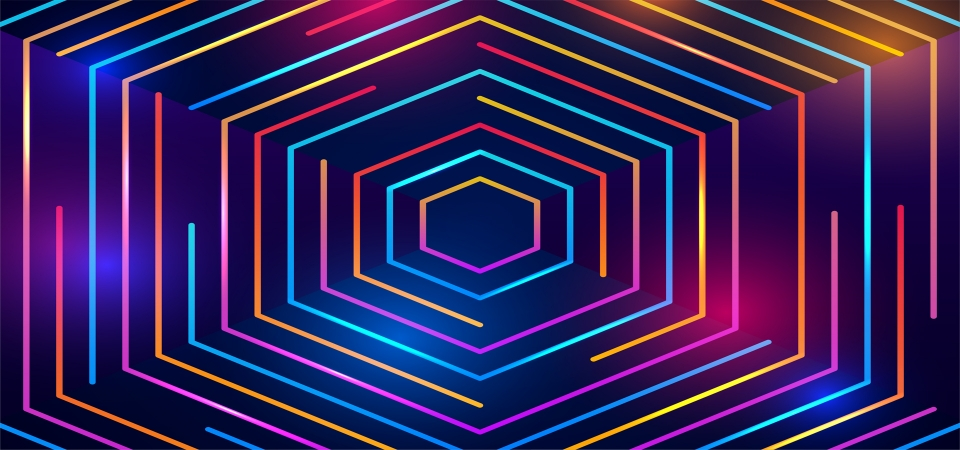 Colorful Neon Circles Background Background Neon Lines Background Background Image For Free Download