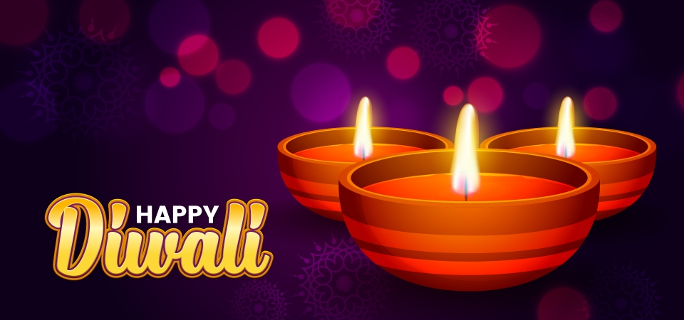Happy Diwali Festival Website Banner Background Happy