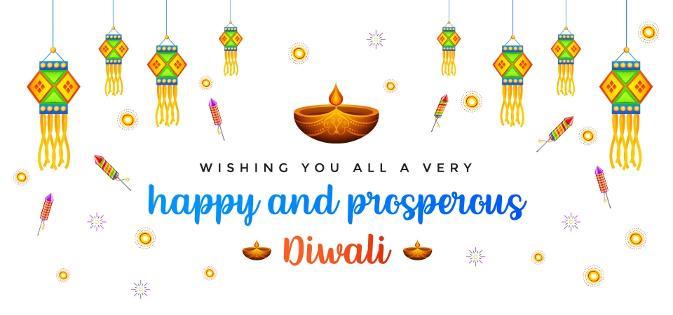 Happy Diwali And Prosperous New Year Greeting Cards