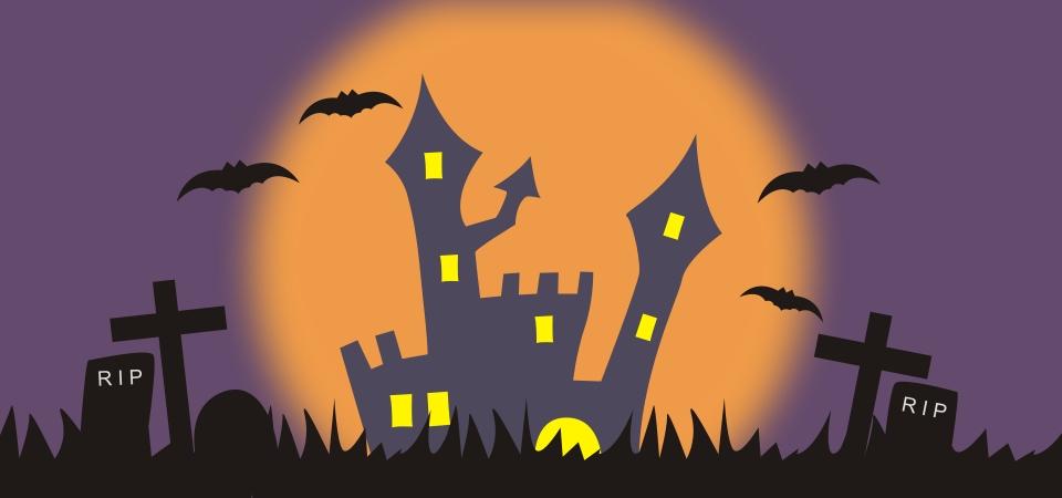 Spooky Halloween Tree Background - Download Free Vectors, Clipart Graphics  & Vector Art
