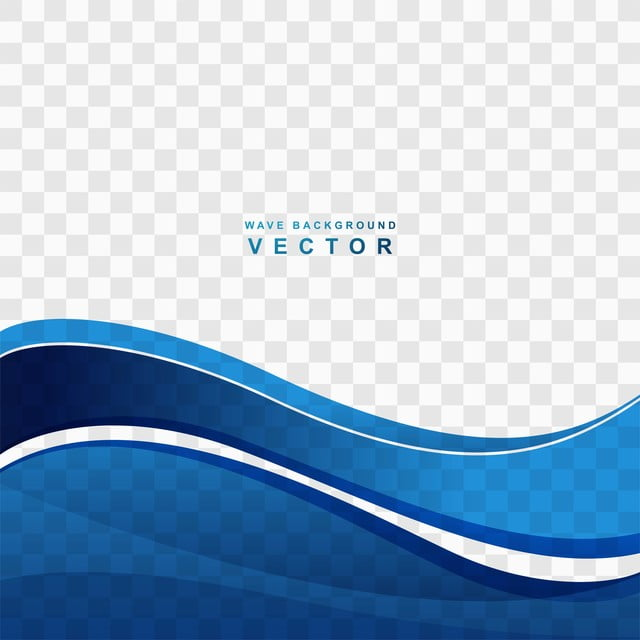 Abstract Blue Wave Transparent Background Vector Abstract
