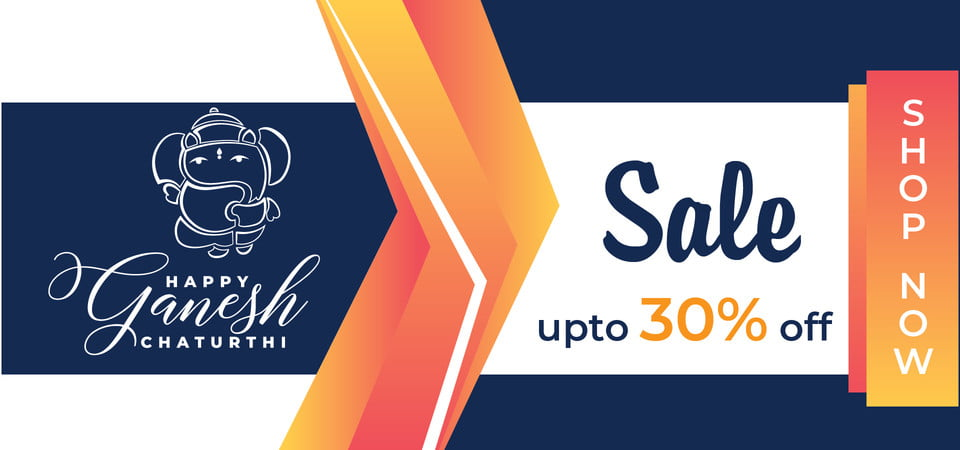Happy Ganesh Chaturthi Sale Upto 30 Off, Abstract