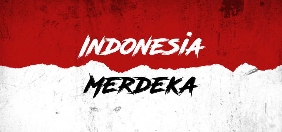 pngtree indonesia merdeka flag background image 299673