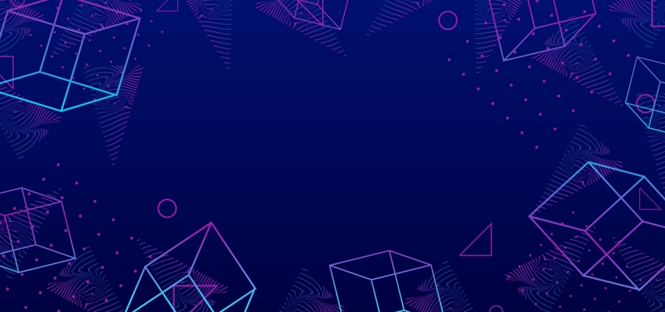 Abstract Background 80s Memphis Geometric Blue Colors Theme