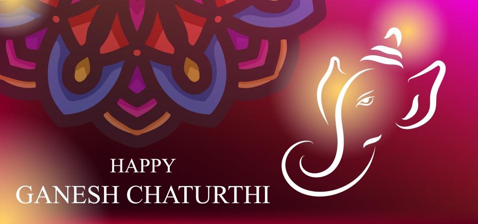 Card Background Design Of Ganesh Chaturthi For Celebrate Lord Ganesha Festival Religion Design Festival Background Image For Free Download