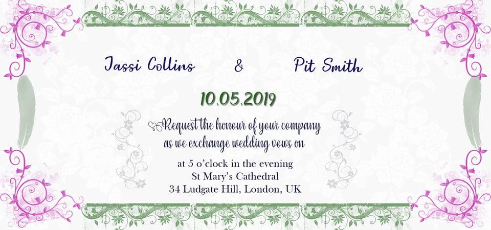 White Floral Wedding Invitation Background Design Wedding