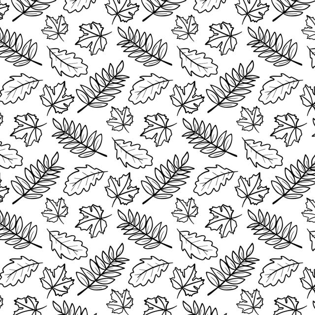 Cute Leaves Doodle Pattern Background Illustration Print Leaf Background Image For Free Download