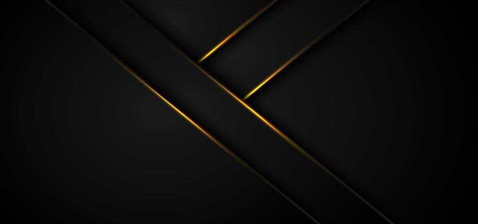 Abstract Metallic Black Gold Frame Sport Design Concept
