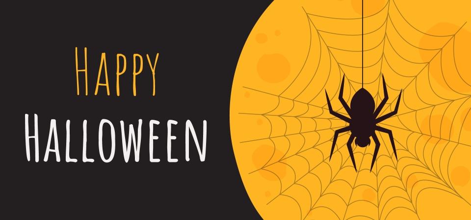 Happy Halloween Black And Orange Background Halloween Background Banner Background Image For Free Download