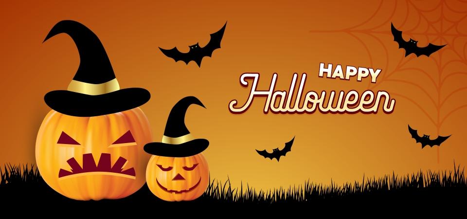 Happy Halloween With Pumpkins Background Halloween Pumpkin Night Background Image For Free Download