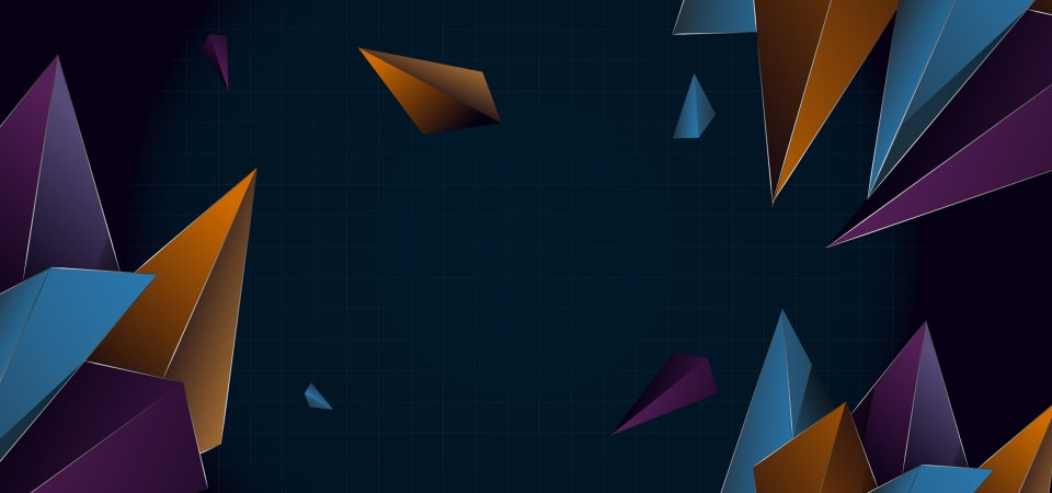 80s Color Style Background With Geometric Shapes, Futuristic