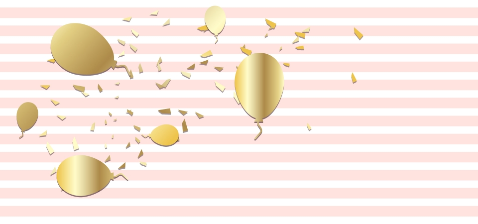 Birthday Balloon Backdrop Vector Pink Gold Background Image For Free Download
