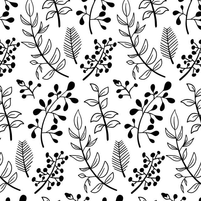 Cute Leaves Doodle Pattern Hand Drawn Autumn Illustration Background Background Image For Free Download