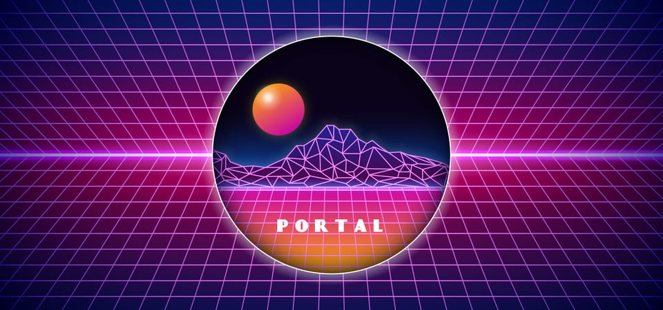 Digital Space Isolated Portal Hole Background Portal Hole Ring Background Image For Free Download