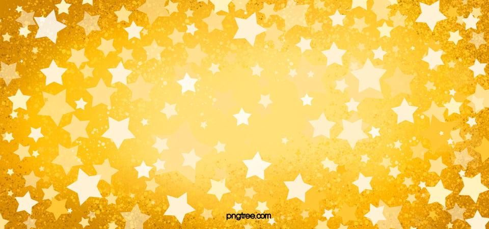 Golden Yellow Star Decoration Background, Stars, Background