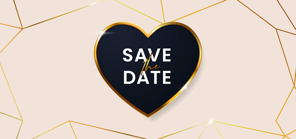 Save The Date Clean Luxury Wedding Invitation Card Cover