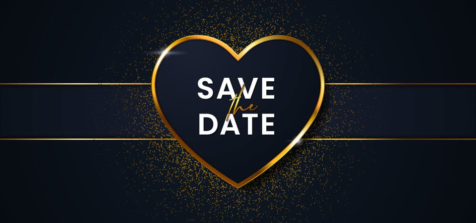 Save The Date Luxury Wedding Invitation Card Cover