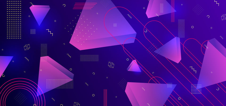 Trendy 3d 80s Abstract Background Cool Design Geometric