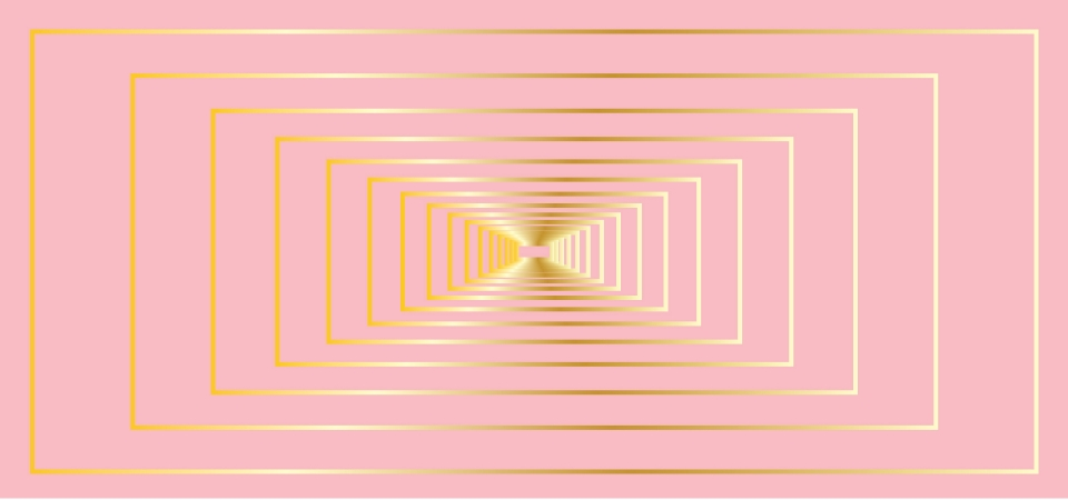 Gorgeous Pink Pastel Background With Overlapping Squares In