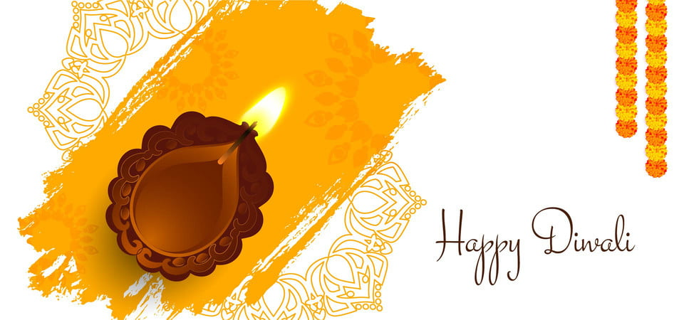 Happy Diwali Background With Lamp Diwali Background