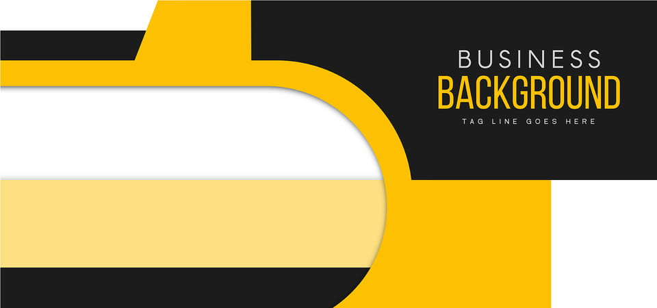 yellow business background template design flyer design