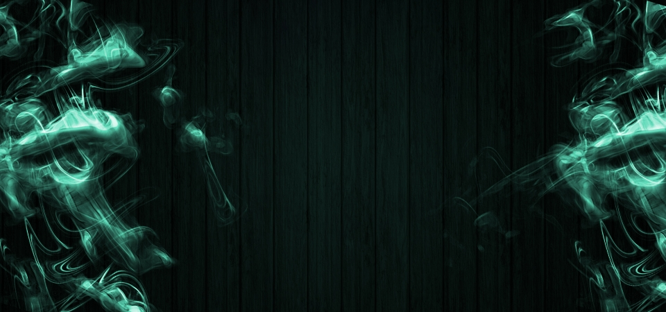 Abstract Green Smoke On Dark Wooden Background Wooden