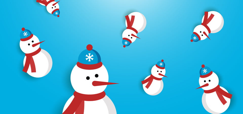 pngtree christmas background snowman image 310736